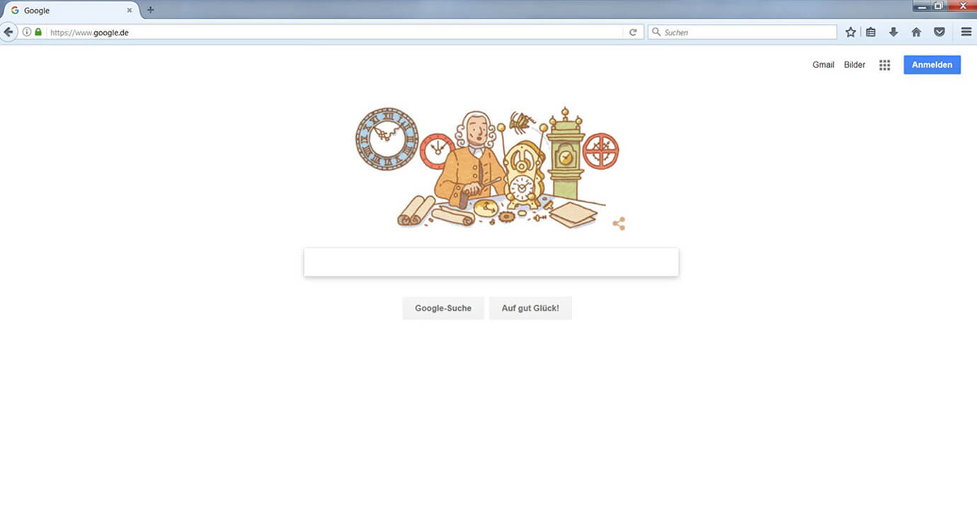 Screenshot Google Eingabemaske